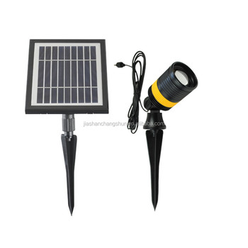 Modern Design Focus Solar Spot Light for Outdoor Lighting