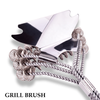 Safe Clean Bristle Free Long Handle BBQ Cleaning Grill Brush and Scraper