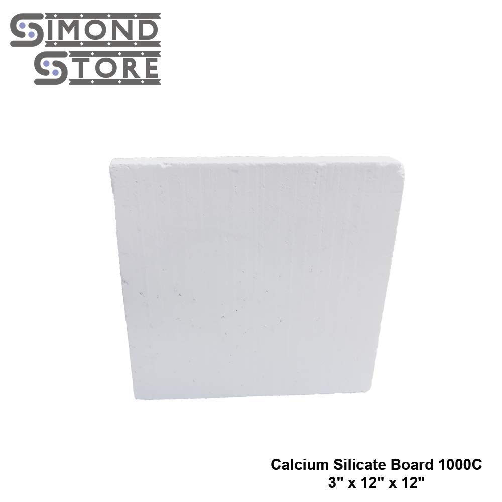 "Calcium Silicate Board Insulation 1832F 3""x12""x12"" for Backup Insulation"