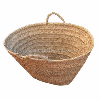 Moroccan hand woven palm leafs basket buy woven shopping baskets market pro - Panier de basket junior ...
