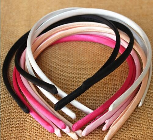 WIIPU Wholesale 7mm <strong>Headband</strong> Covered Satin Wholesale Lots Hair Accessories