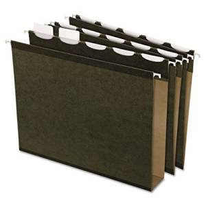 Esselte Products - Esselte - Ready-Tab 2amp;quot; Capacity Reinforced Hanging File Folders, Letter, Green, 20/Box - Sold As 1 Box - Patented polylaminate reinforcement makes folder ten times stronger. - Flat bottom reinforced with pressboard insert. - Now includes letter size, printer-ready inserts