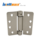 1/4'' Radius Corner Brushed Nickel Finished Spring Door Hinge
