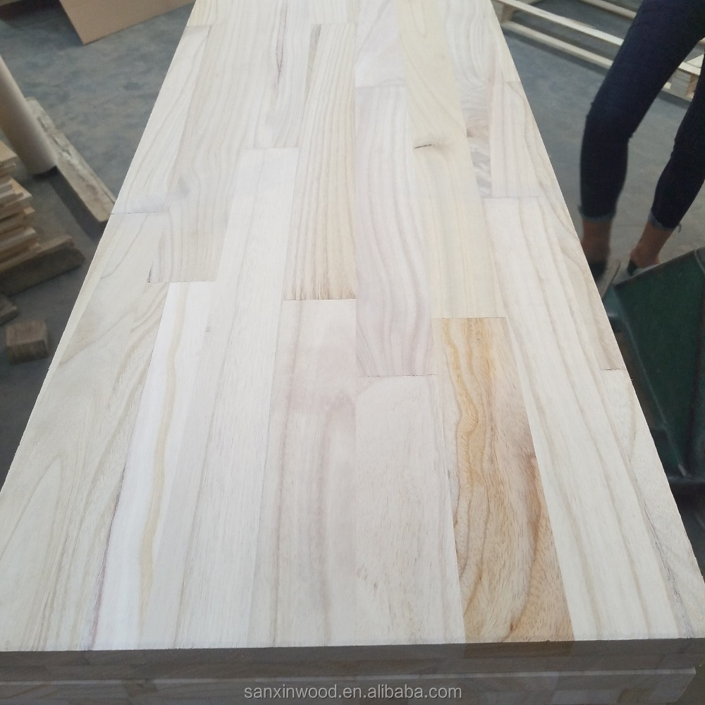 38mm thickness paulownia finger jointed board