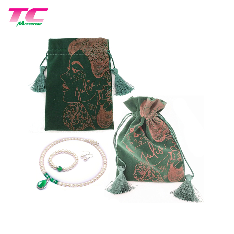 Morecredit Custom Printed Flax Cloth Drawstring Cotton Linen Packing Pouch Bag For Straw Chopsticks Tableware Pen