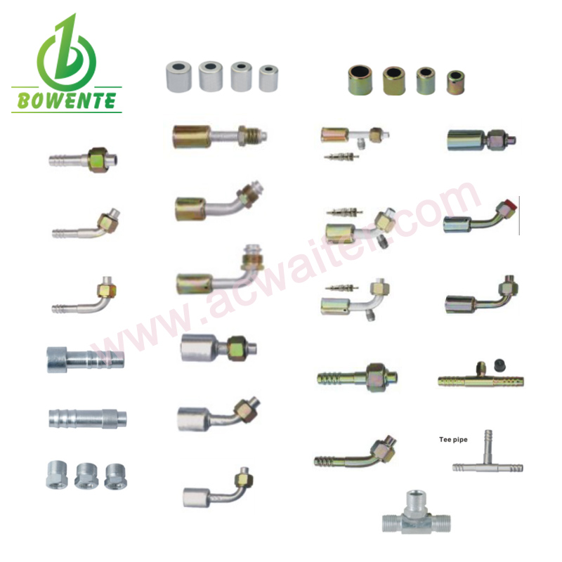Air Conditioning Fitting Auto AC Fitting Aluminium / Iron Fitting
