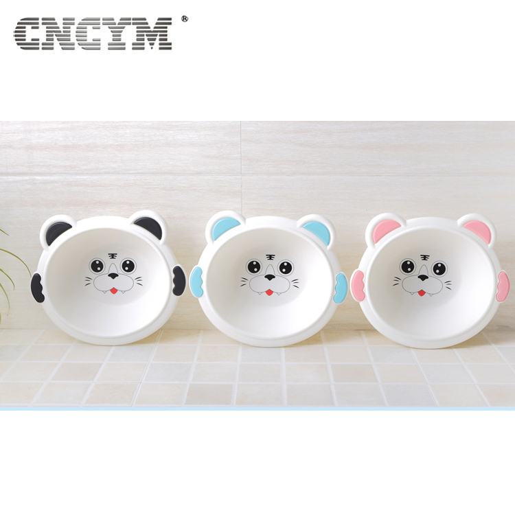 Cute Cat face plastic basin washing basin for baby bath