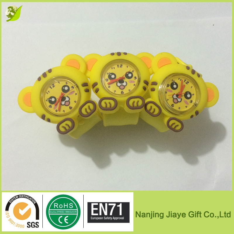 Lovely Tiger Silicone Straps Slap Watch With Various Design