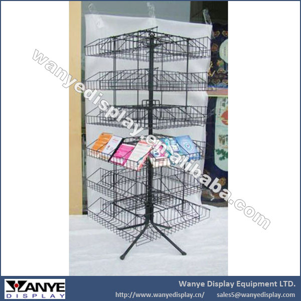 Cusotmized Retail Rotating Audio-video CD Floor Stand Display Rack