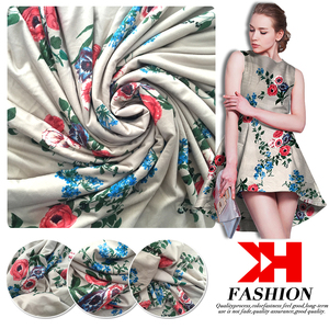 Fashion design Knitting Print viscose crepe fabric taffeta down wear fabric