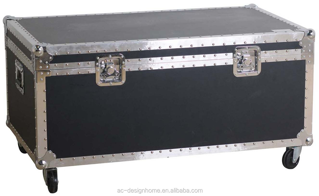 Silver Black Aluminium Wooden Storage Trunk Wheels Vintage Metal Furniture Edge Banding For Feet Product