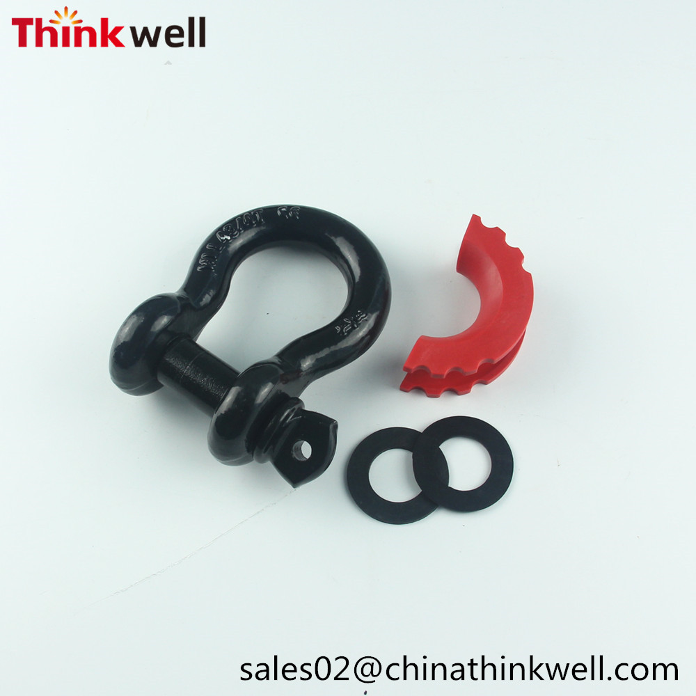 4.75T Capacity G209 D-ring Shackles With Isolator & Washer Kits