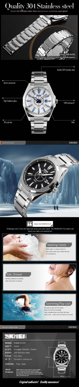 5e4a8c992 أفضل الجودة skmei فاخر 304 المقاوم للصدأ الرجال ساعة اليد اليابان حركة  الرجال الساعات سعر المصنع