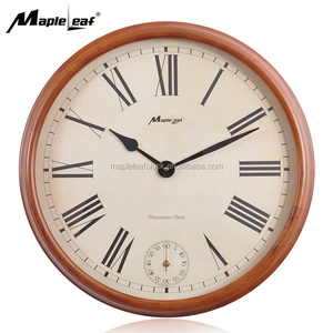 OEM Accept High Quality Hourly Chime House Wooden Wall Clock for Home Decorative