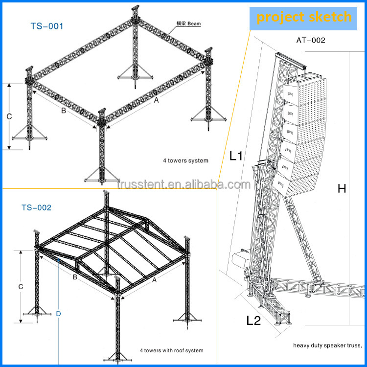 Roof Truss Aluminum Stage Truss System For Sale Roof