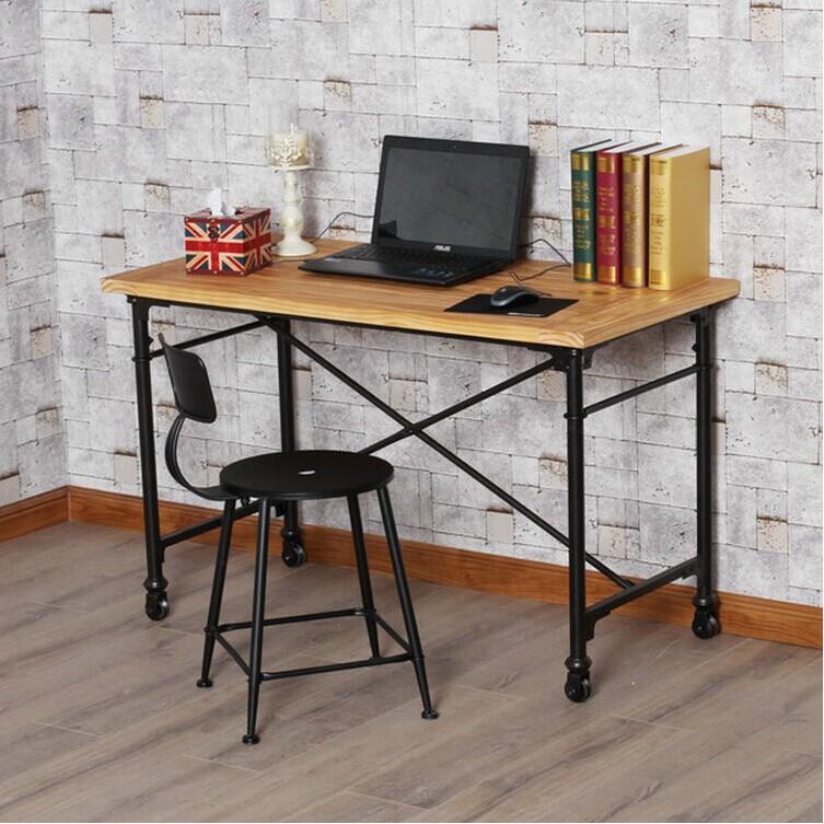 Americano stile industriale loft desktop mobile in ferro for Mobili in ferro per ufficio