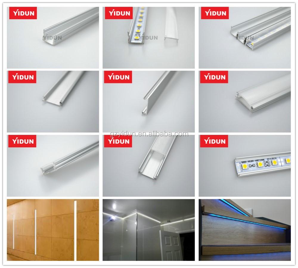 yidun lighting ypr1606 16 6mm led aluminum extruded channel for display cases kitchen. Black Bedroom Furniture Sets. Home Design Ideas