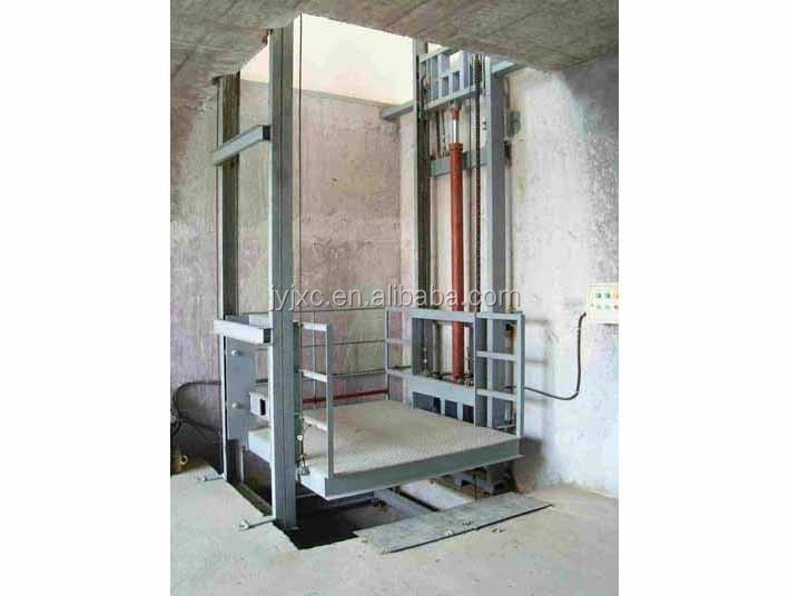 Hydraulic vertical cargo lift table outdoor lift platform for Indoor elevator