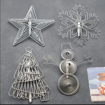 Yiwu Aceon Stainless Steel Handmade Wire Card Holder Christmas Tree