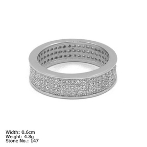 RZ3-0029 stone ring designs for men white gold ring 925 sterling silver ring with cz stone