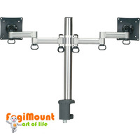 Space Generator Dual LCD Monitor Arm -Black (Desk Clamp / Grommet Mount)