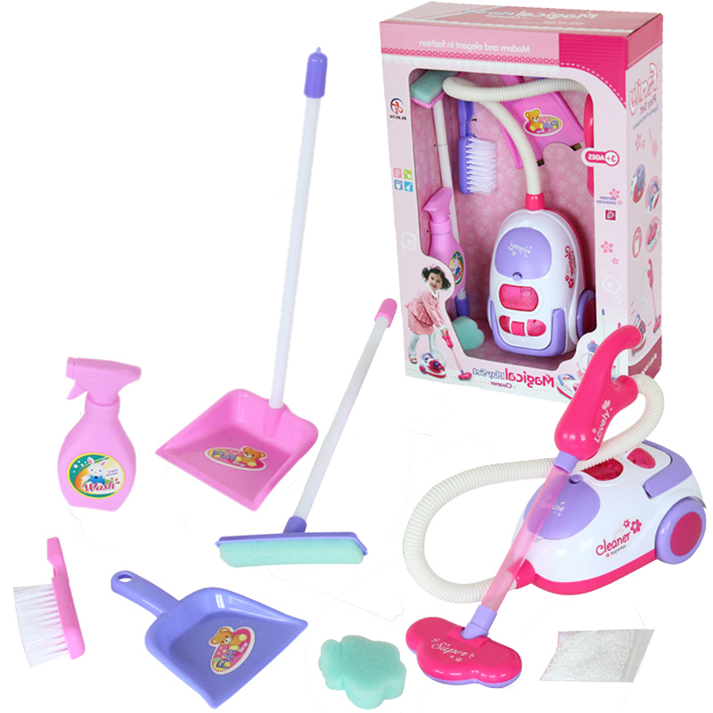 Free shipping Chirstmas gift for children Cleaning tool toy vacuum cleaner Cleaning Kit Play house toys
