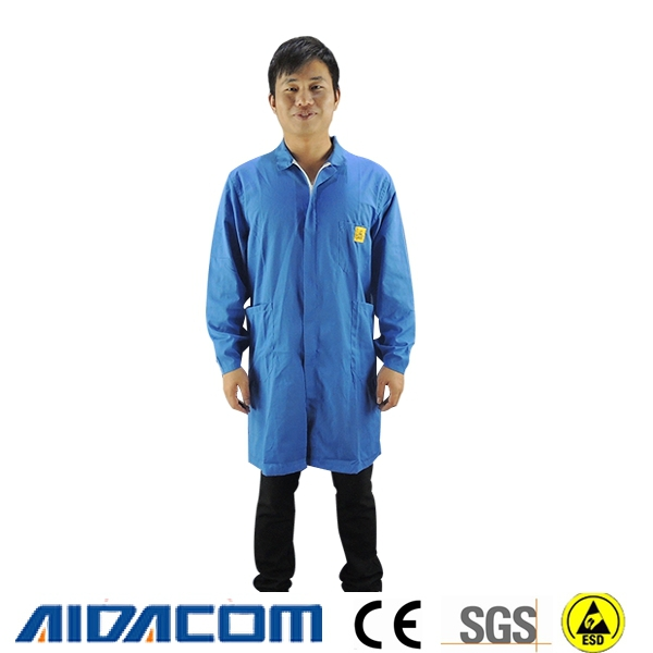 ESD working smocks, ESD poly/cotton smocks, working apparel