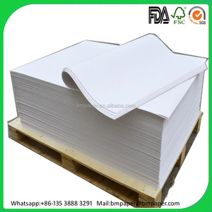 30gram 35gsm 40-130gsm single side MG bleached white kraft paper for food wrapping