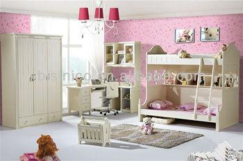 Moderne kinderen kinderen slaapkamer meubilair houten stapelbed