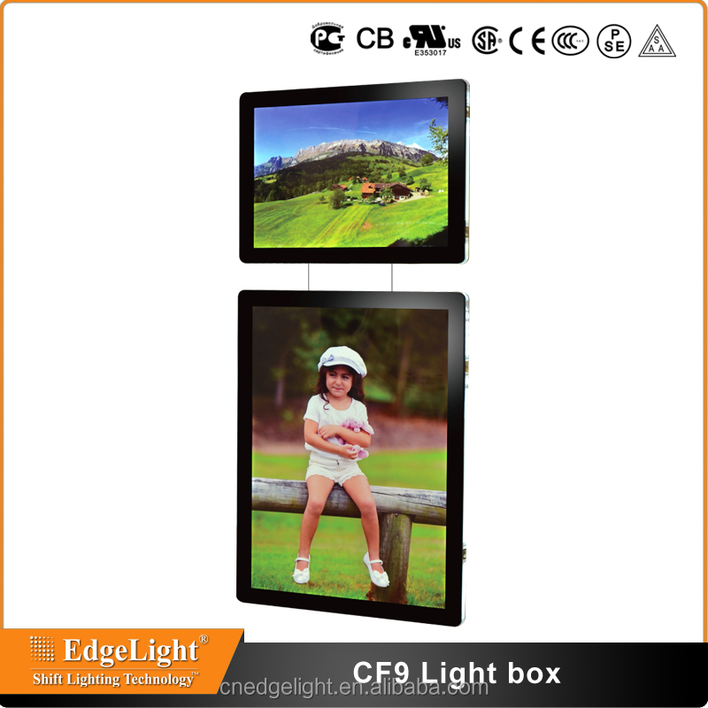 Edgelight CF9 alibaba sign up china supplier custom magnetic led light box <strong>manufacturing</strong>