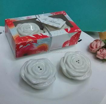 New Wedding Table Gifts For Guestin Bloom Ceramic Flower Salt