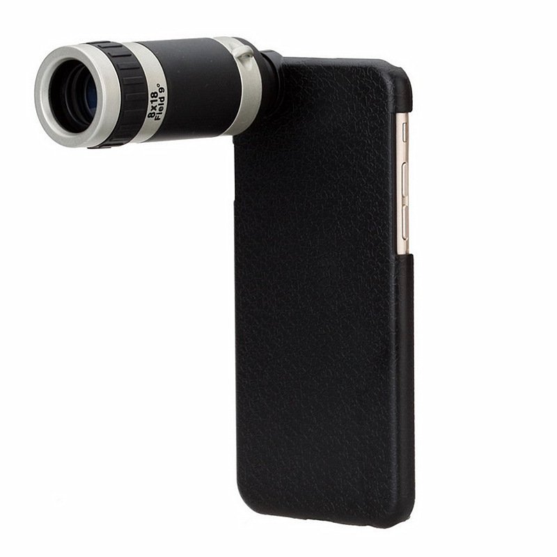 Portable 8X 4.7 inch mobile case + mobile phone lens for apple iphone 6 camara