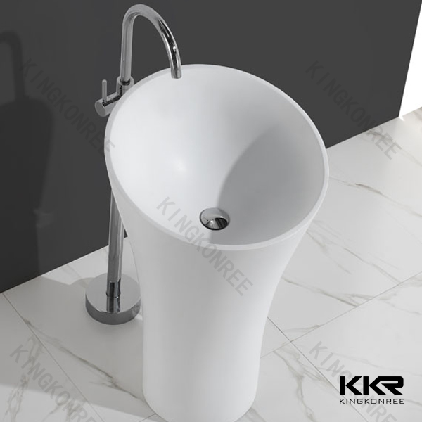hotel bathroom solid surface cup shape wash pedestal basins. Hotel Bathroom Solid Surface Cup Shape Wash Pedestal Basins   Buy