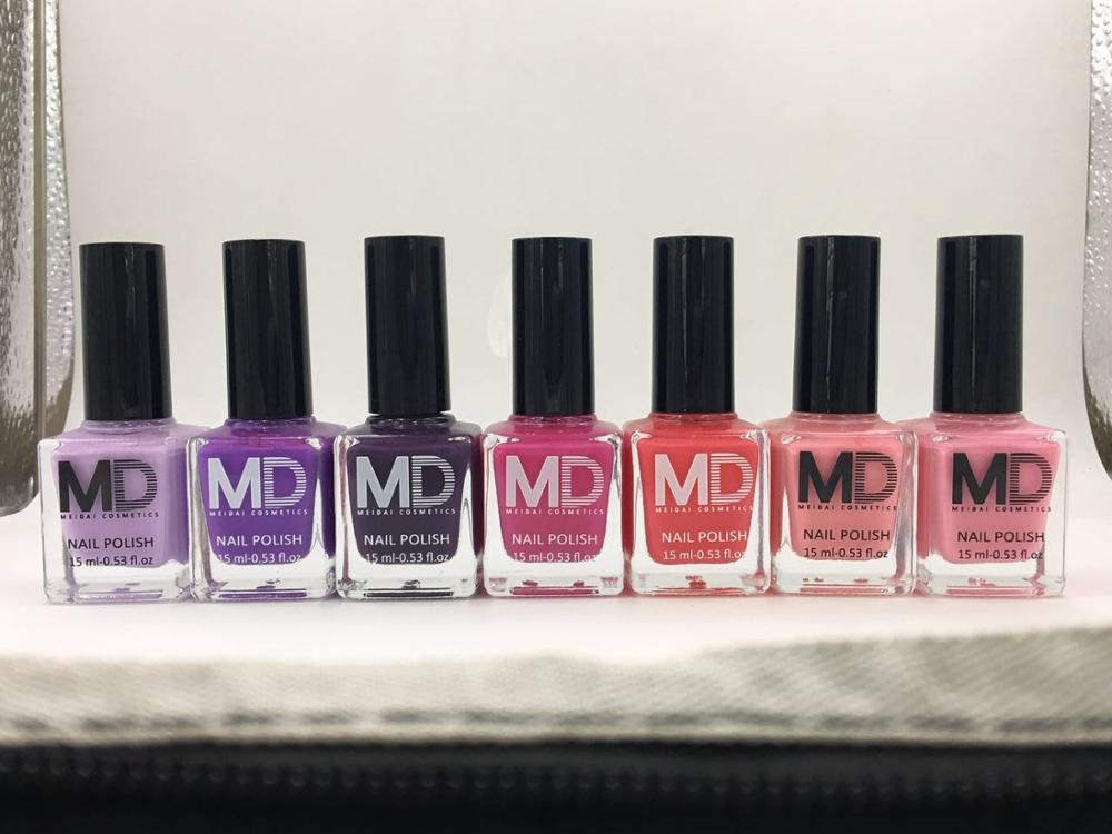 MD hot sale 15ml 144 colors high quality nail polish