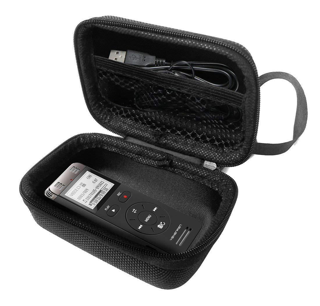 FitSand Hard Case for Yemenren Digital Voice Activated 8GB Sound Audio Recorder Dictaphone