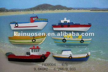 Fishing boat 3d resin fridge magnet buy 3d resin fridge for Best places to magnet fish