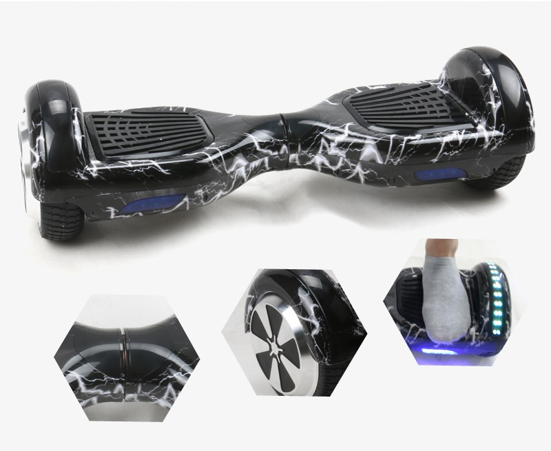 Self Balance Car Hoverboard Electric Scooter With Speaker Strip Light Wheel