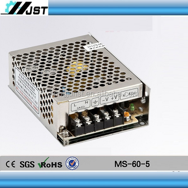High quality Mini size 60W DC 12V 5A Switching PC Power Supply
