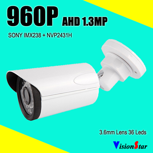 AHD CCTV security system camera 1.4mp night vision 960p bullet type