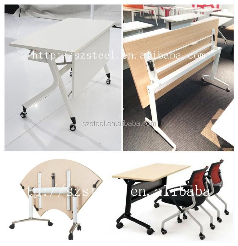 New Design Office Folding DeskMetal Foldable TableOffice Folding