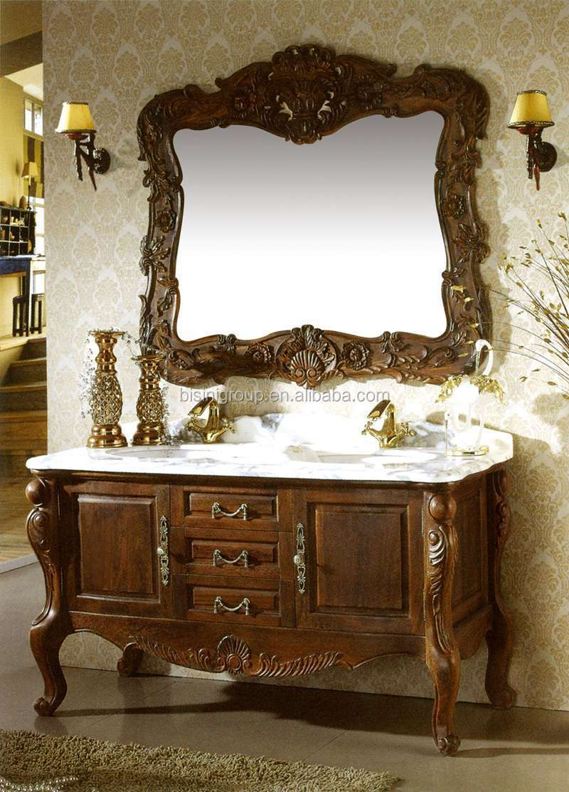 American Wooden Bathroom Cabinet Vanities Hand Carved