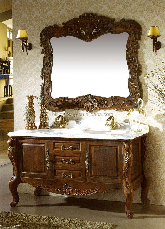 American Wooden Bathroom Cabinet Vanities Hand Carved