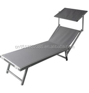 outdoor furniture Foldable Lounge Beach Bed With Sun Shade Portable Sun Lounge Folding Beach chairCY-208