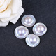 Wholesale half-round white 25mm loose mabe pearl bead
