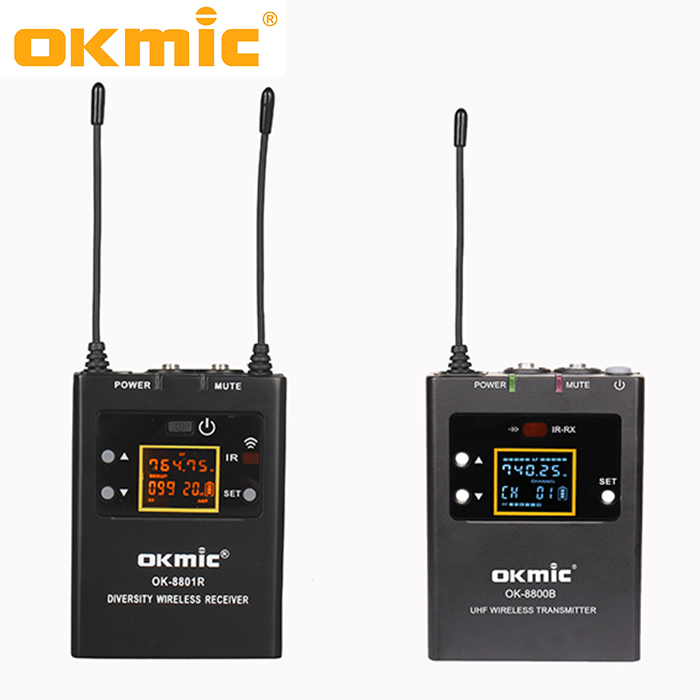 Hot sell high quality diversity interview recording wireless microphone for camera