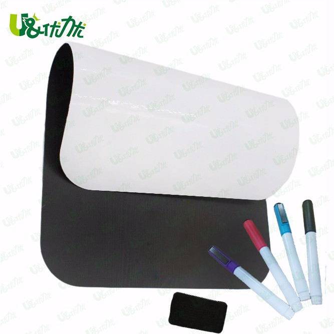 "Dry Erase Magnetic Whiteboard Fridge White board 17"" x 11"" 0.5 mm Round Corner with Custom Packing"