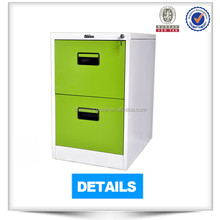 Mini size durable two drawer metal file cabinet with central locking