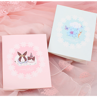 Beautiful Cute Greeting Cards High Quality Pink Wholesale Paper Gift Card Blue Best Wishes Holiday Birthday Cards