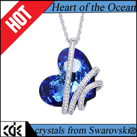 Crystals from Swarovski 2017 fashion pendant the Titanic heart of Ocean romatic jewelry gift necklace