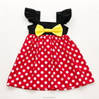 Wholesale children princess dresses casual polka dot girls summer baby birthday boutique dress